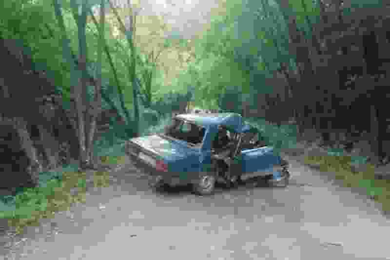 17-летний водитель врезался в дерево возле турбазы под Мичуринском