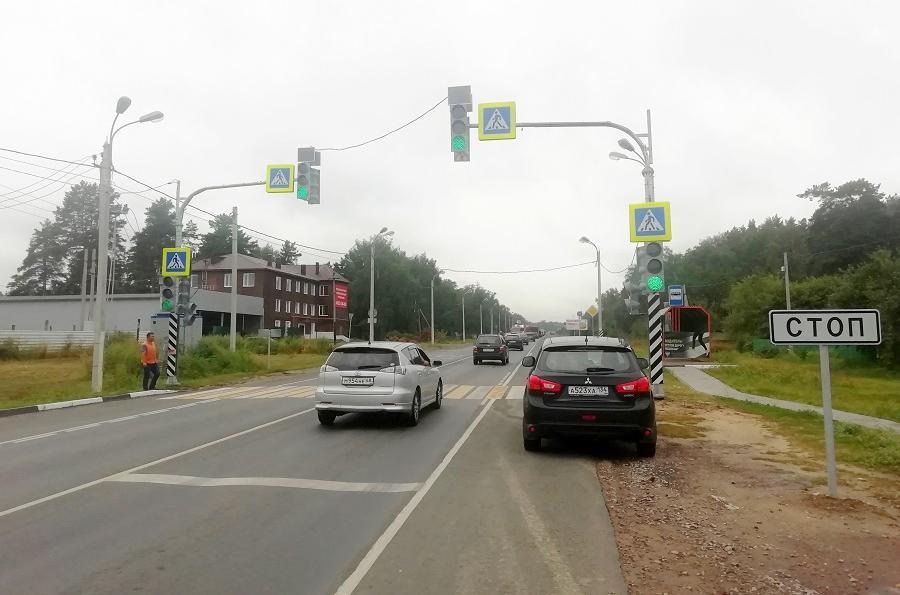 """На трассе """"Тамбов-Пенза"""" установили новые пешеходные светофоры"""