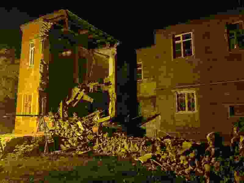 Ночью в центре Тамбова произошло обрушение стены жилого дома