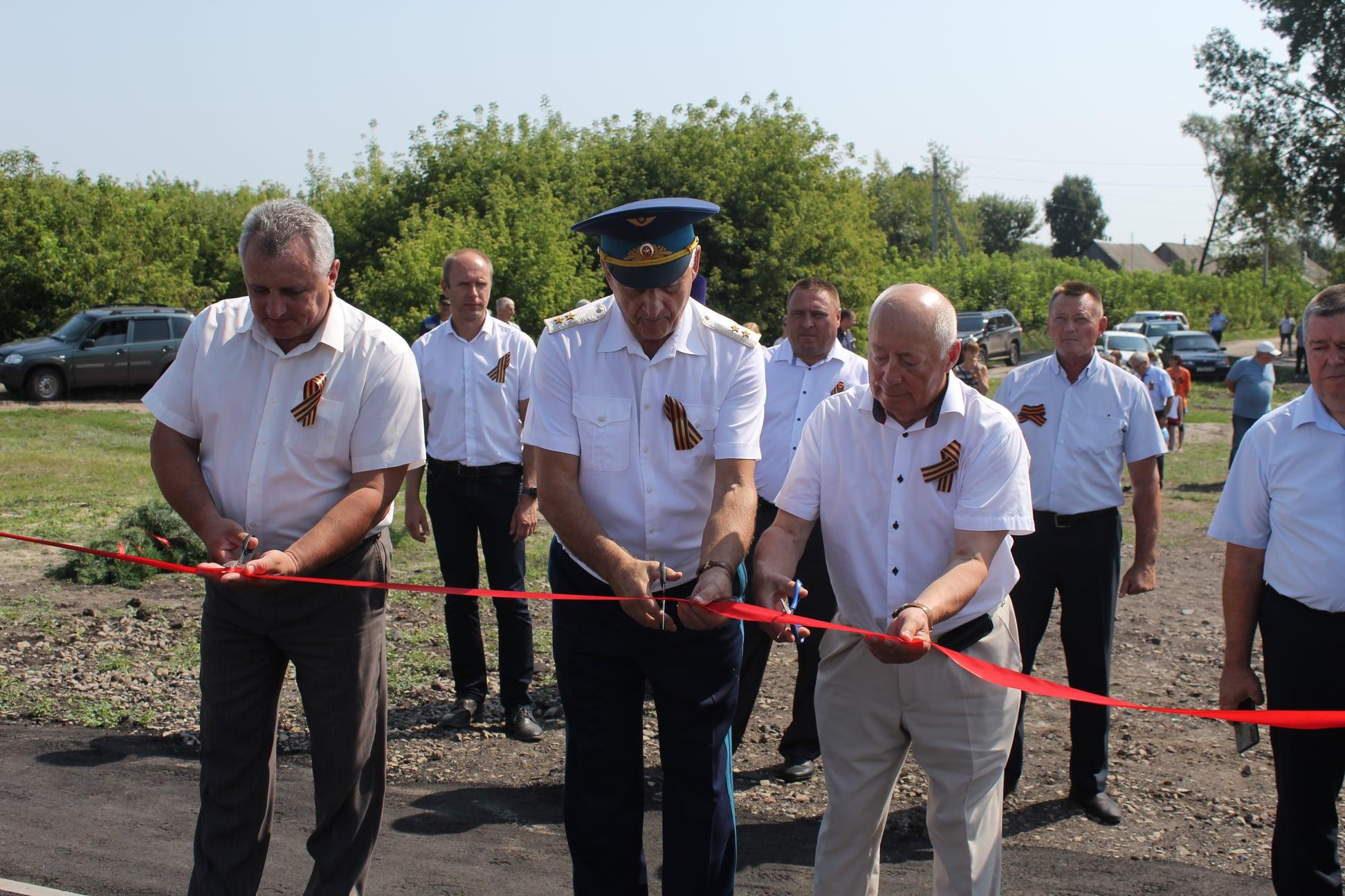 В Инжавинском районе открыли новый мемориальный комплекс
