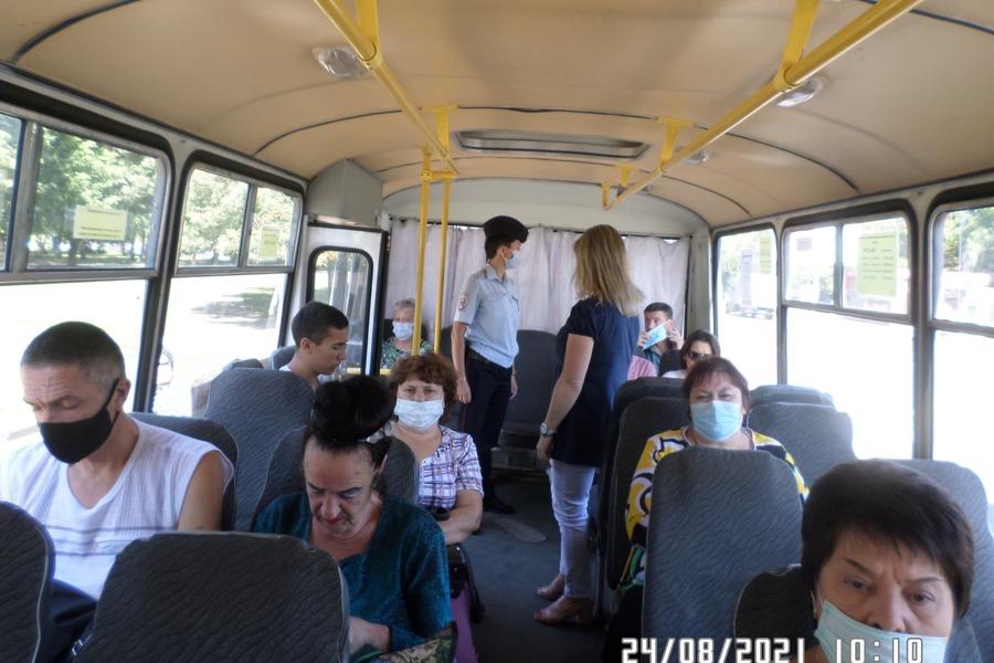 В общественном транспорте ловят тамбовчан без масок