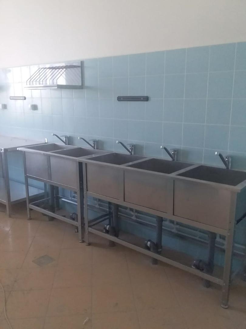В строящемся детском саду на севере Тамбова установили оборудование