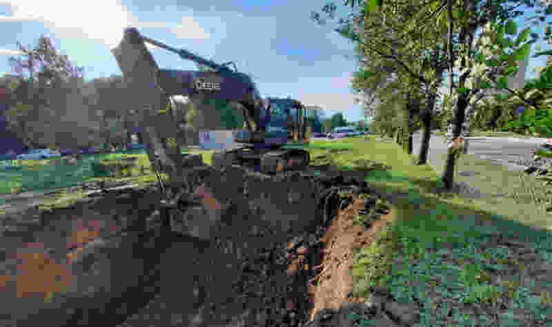В Тамбове до конца сентября заменят полкилометра магистральной сети на Рылеева