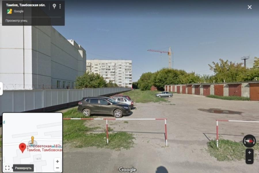 В Тамбове могут снести гаражи в районе улицы Советской, 187