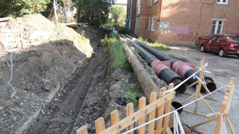 В Тамбове на улице Островитянова реконструируют ветхие теплосети