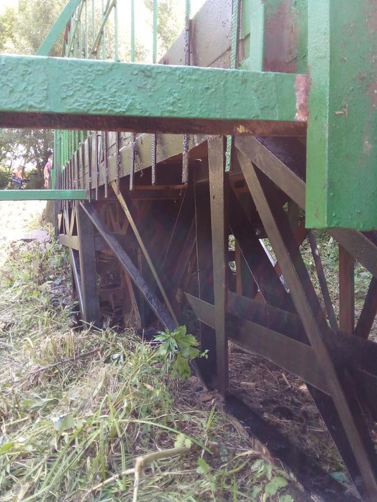 В Тамбове начали ремонтировать опасный мост в Ахлябиновской роще