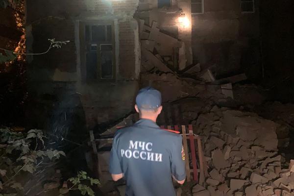 В Тамбове обрушился аварийный дом