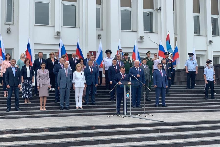 В Тамбове торжественно отметили День Государственного флага РФ
