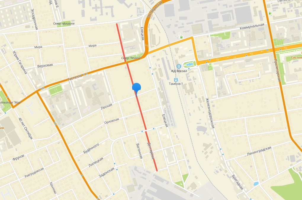 В Тамбове в этом году отремонтируют улицу Дегтярёва