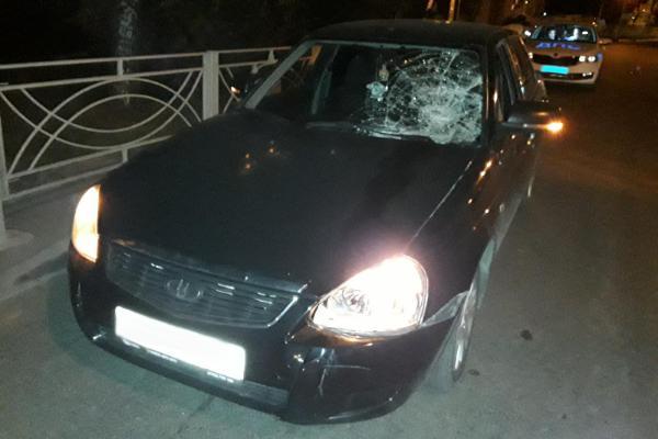 В Тамбове в полночь сбили пешехода