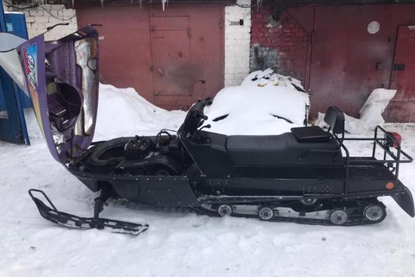 В Тамбовской области украли снегоход