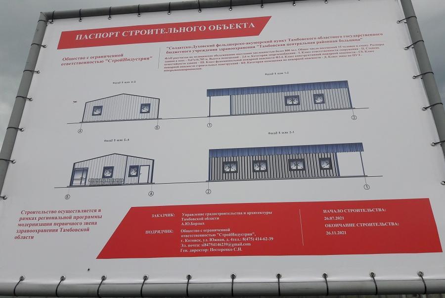 В Тамбовском районе построят новый ФАП