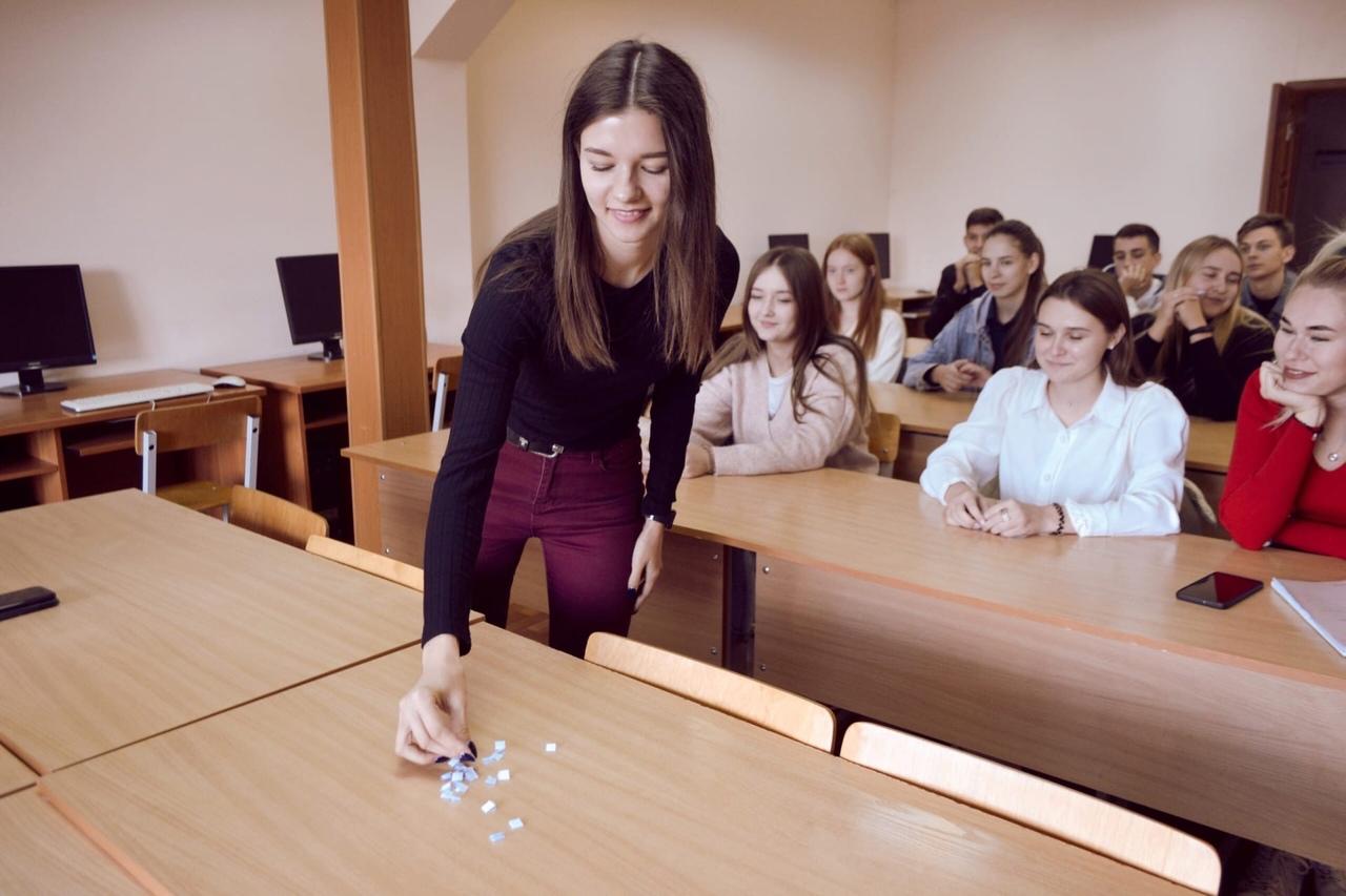 Активистка Тамбовского филиала РАНХиГС провела тренинг среди первокурсников