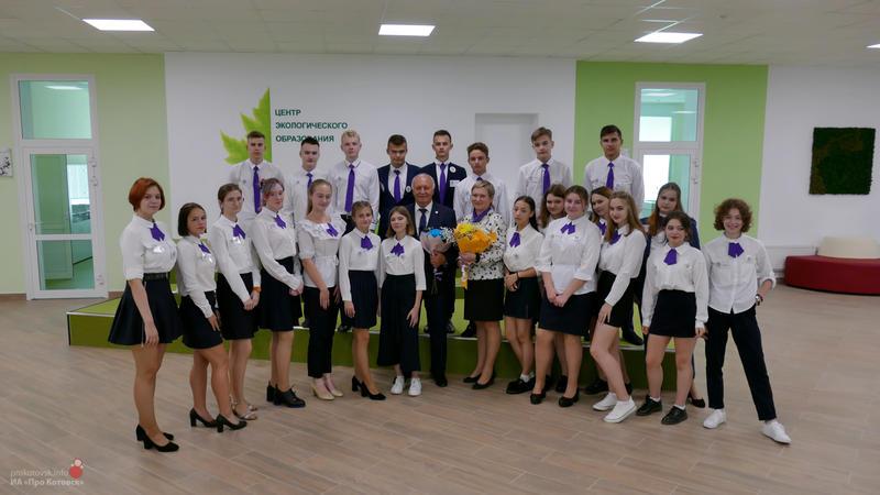 Глава Котовска Алексей Плахотников выступил перед учениками школы ЭКОТЕХ