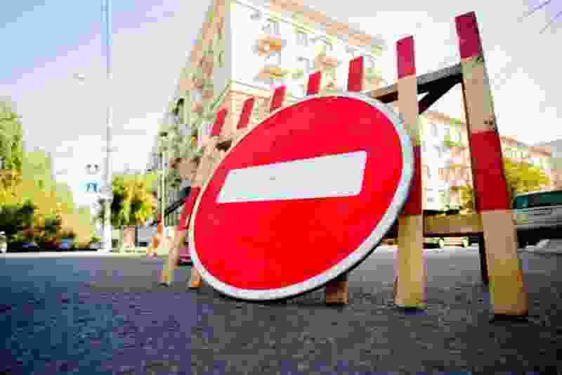 Участок улицы Гастелло вновь перекрыли