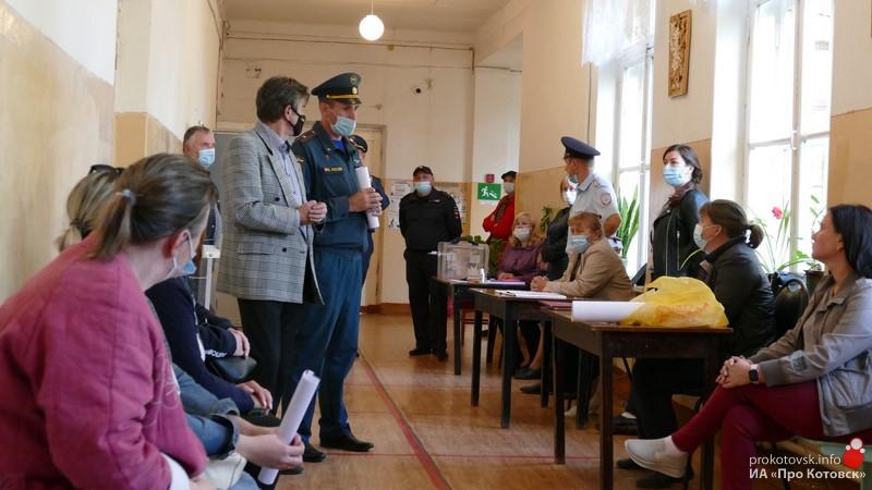 В Котовске отработали алгоритм действий при возникновении ЧС на избирательных участках