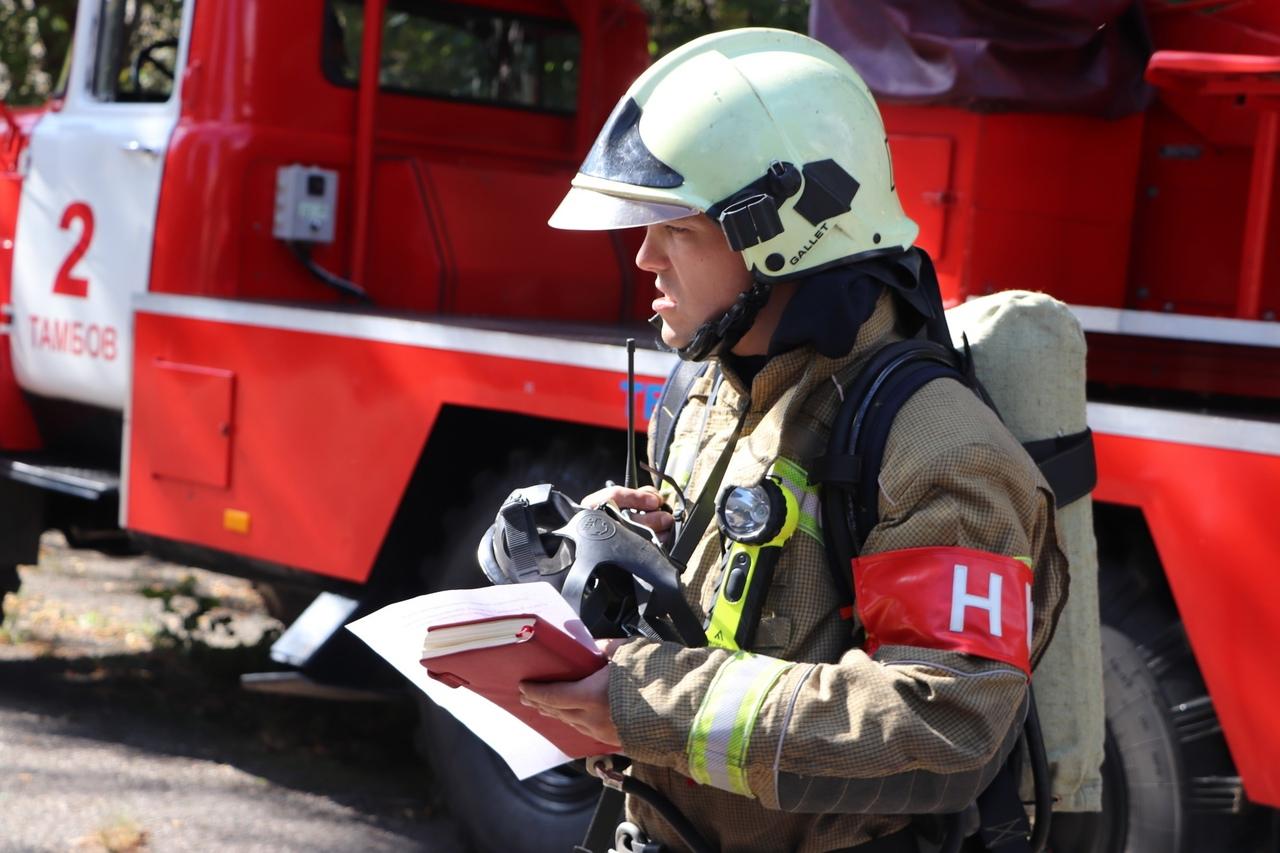В школе №30 Тамбова прошли пожарные учения
