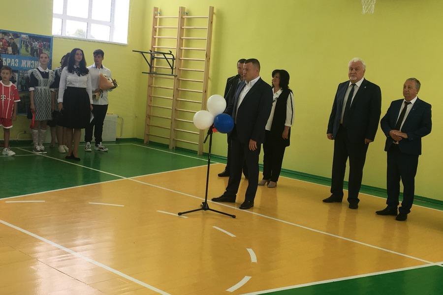 В школе села Глазок Мичуринского района появился спортзал