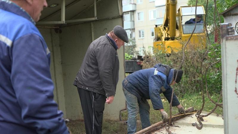 В Тамбове демонтировали очередной бесхозный гараж