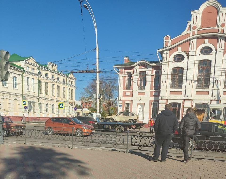 На центральных улицах Тамбова устроили погоню