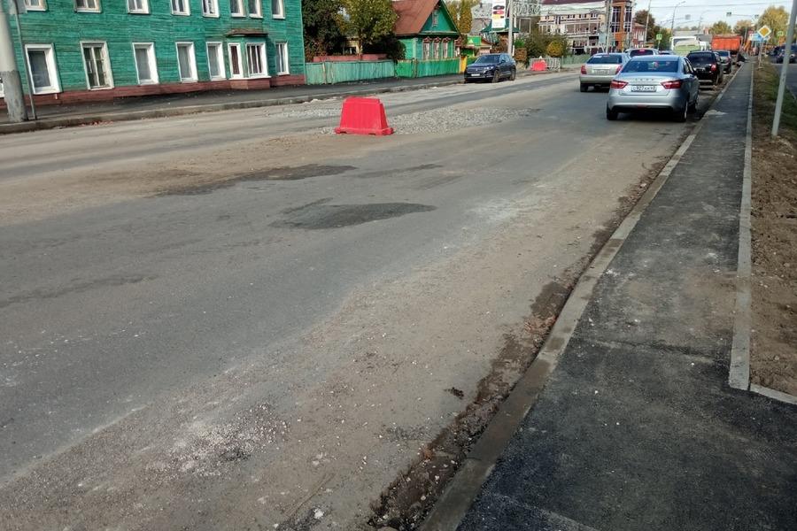 Названы новые сроки окончания ремонта улицы Гастелло в Тамбове