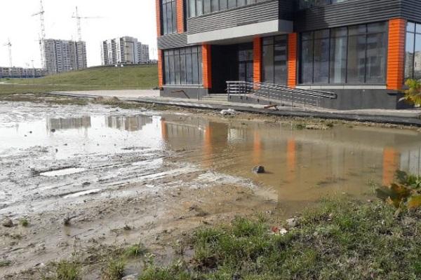Олимпийский парк Тамбова залило водой из-за коммунальной аварии