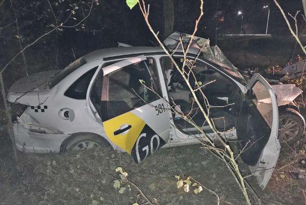 В Пригородном лесу «Яндекс-такси» врезалось в дерево, водитель погиб