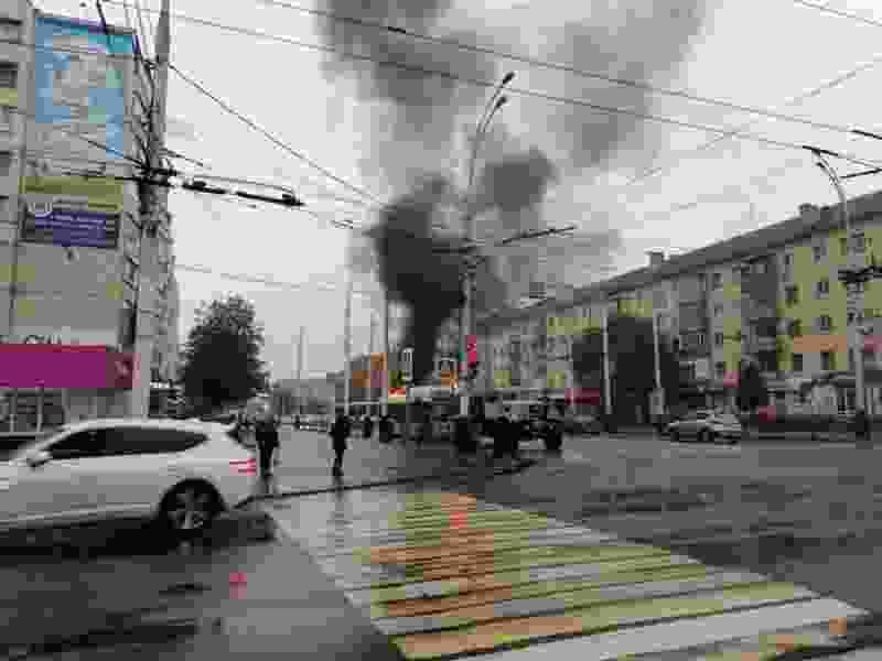 В Тамбове вновь загорелся пассажирский автобус