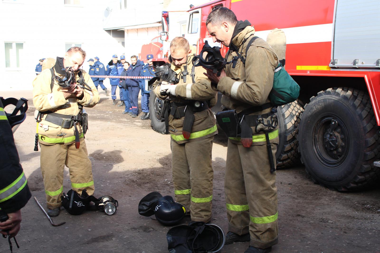 В Тамбовской области определили лучшее звено газодымозащитной службы