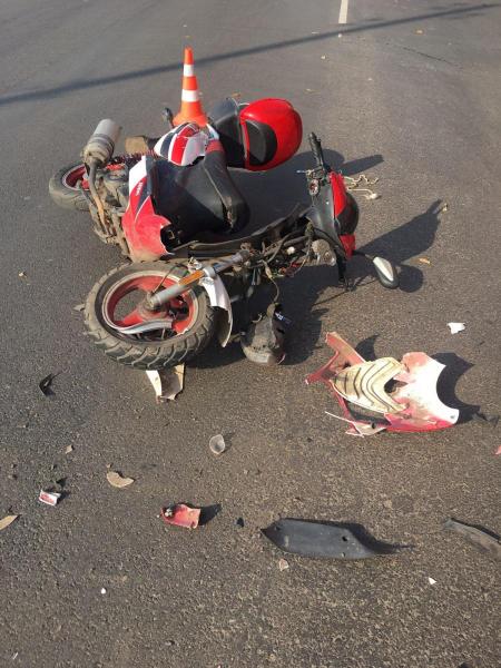 В Тамбовской области в ДТП с иномаркой пострадал водитель скутера