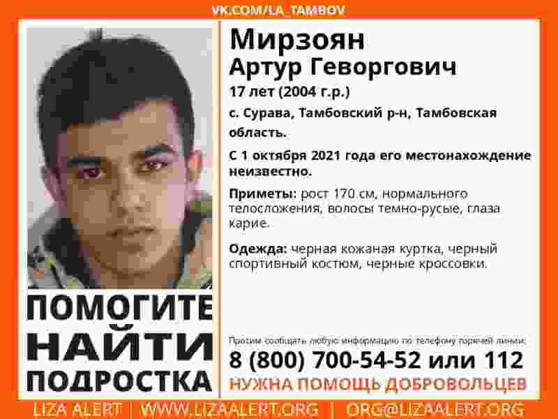 В Тамбовском районе пропал 17-летний подросток