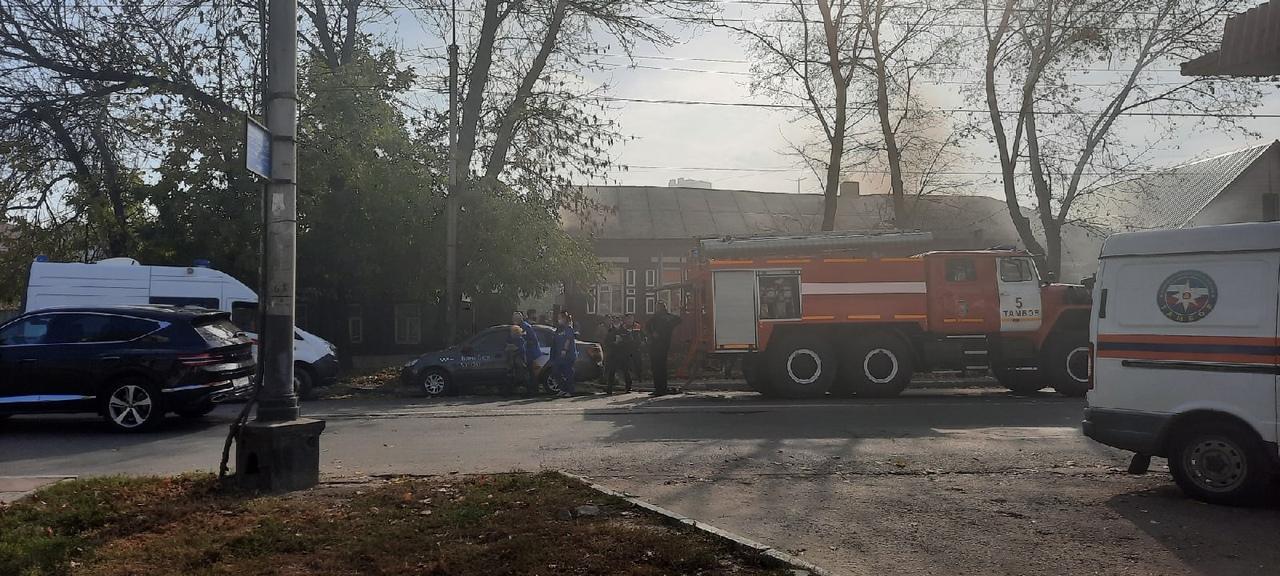 В центре Тамбова при пожаре женщина получила ожоги лица