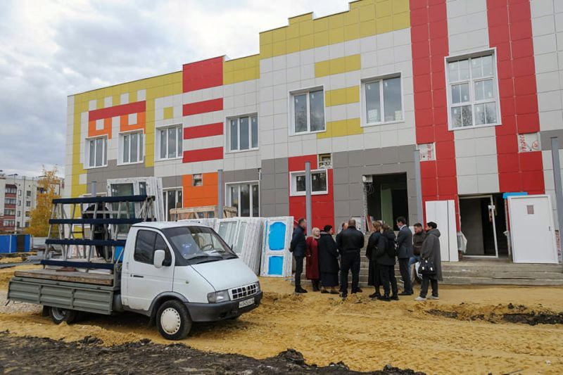 Возведение детского сада в посёлке Строитель идёт с отставанием от графика